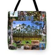 Southeastern Pine Forest Wildlife Poster Tote Bag