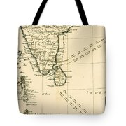 Southern India And Ceylon Tote Bag