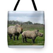 Southern White Rhinos Tote Bag
