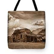 Southwest Indian Rock House And Lightning Striking Tote Bag by James BO  Insogna