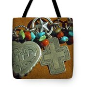 Southwest Style Jewelry With Texas Star Tote Bag