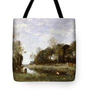 Souvenir Of The Bresle At Incheville  Tote Bag