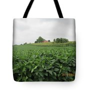Soy Beans And Red Barn Tote Bag