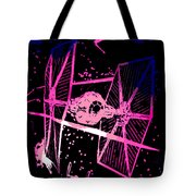Space Battle Tote Bag
