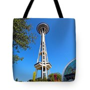Space Needle In Seattle Washington  Tote Bag