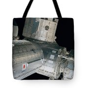 Space Shuttle Discovery And Components Tote Bag