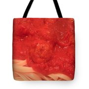 Spaghetti And Meatballs Tote Bag by Michael Merry