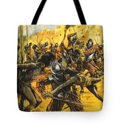 Spanish Conquistadors Tote Bag