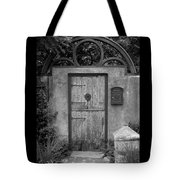 Spanish Renaissance Courtyard Door Tote Bag