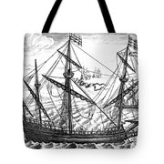 Spanish Ship, C1595 Tote Bag