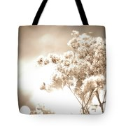 Sparkly Weeds In Sepia Tote Bag