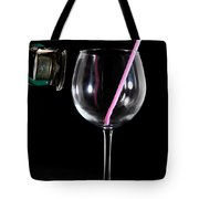 Speaker And A Glass With No Resonance Tote Bag