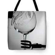 Speaker Breaking A Glass With Sound Tote Bag