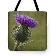 Spear Thistle With Texture Tote Bag