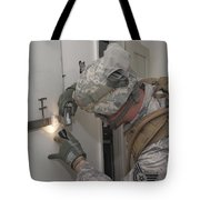 Specialist Takes A Photograph Tote Bag