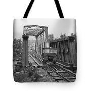 Speeding Across The River Tote Bag