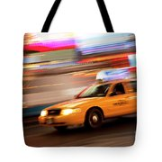 Speeding Cab Tote Bag