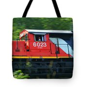 Speeding Cn Train Tote Bag