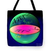 Sphere Blue Tote Bag