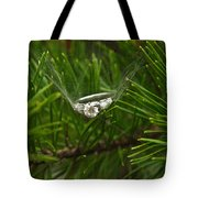 Spider Webs And Engagement Ring 11 Tote Bag