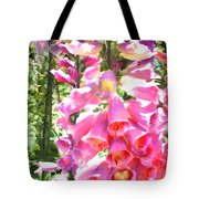 Spikes Of Pink Foxgloves Tote Bag