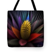 Spiky Botanical Tote Bag by Peggi Wolfe
