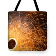 Spinning Fire Tote Bag