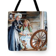 Spinning Wheel Lessons Tote Bag