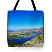 Spirit Lake From Windy Point  Tote Bag