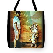 Spirit Of Freedom - Soldier And Son Tote Bag
