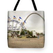 Spirit Of Oklahoma Plaza Tote Bag