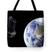 Spitzer Departing The Earth Tote Bag