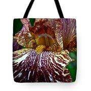 Splashed Iris Tote Bag