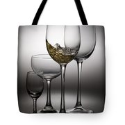 Splashing Wine In Wine Glasses Tote Bag