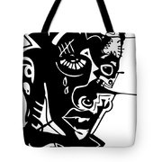Splatter Man Tote Bag