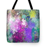 Splattered Colors Abstract Tote Bag