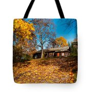 Splendor Of Autumn. Wooden House Tote Bag