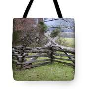 Split Rail Fence Tote Bag