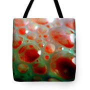 Spooky Bubbles Red Tote Bag