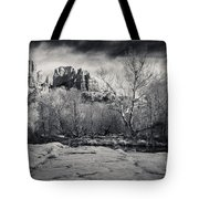 Spooky Castle Rock Tote Bag by Darcy Michaelchuk