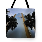Spoonbill Through Palms Tote Bag