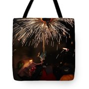Spray Of Sparks Tote Bag