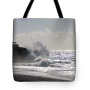 Spray On The Rock Tote Bag