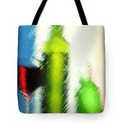 Wine Glasses And Bottle With Colorful Drinks  Tote Bag