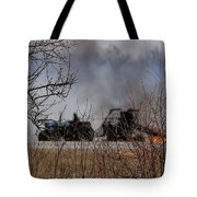 Spring Burning Of The Blueberry Fields Tote Bag