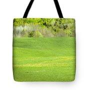 Spring Farm Landscape In Maine Tote Bag