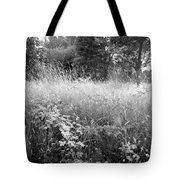 Spring Field Black And White Tote Bag