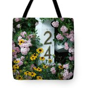 Spring Flowers And Fencepost Tote Bag