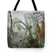 Spring Flowers In Ice Storm Tote Bag