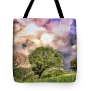 Spring Storm In Tuscany Tote Bag
